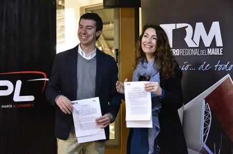 Importante convenio de colaboración firman Teatro Regional del Maule y Buses Talca, París y Londres