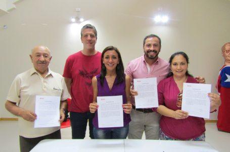 Partido Socialista presentó a sus tres candidatos a concejales por Talca