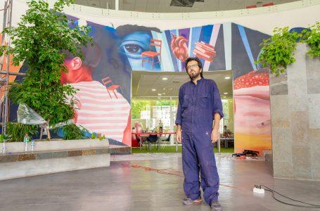 Inauguran en Talca mural sobre la inmigración