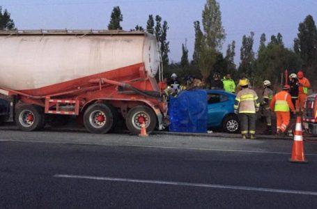 Cuatro víctimas fatales deja accidente de tránsito en Ruta Cinco Sur