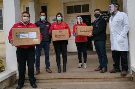 ISL provee de mascarillas y escudos faciales a hospitales de Cauquenes y Linares