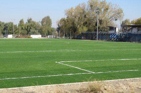 Nueva cancha de fútbol Costanera fue marcada según reglamento