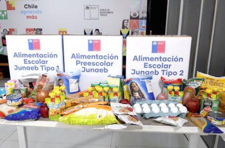 Se retiran paquetes de arvejas de canastas entregadas por Junaeb en seis comunas maulinas