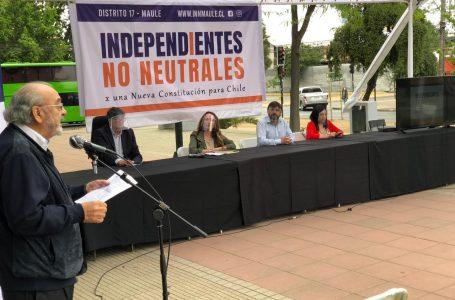 Independientes presentaron lista de candidatos a constituyentes por el Maule Norte
