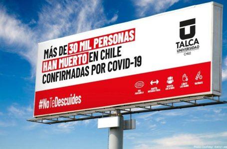 UTalca lanza campaña para reforzar el autocuidado de los jóvenes en pleno peak de casos COVID