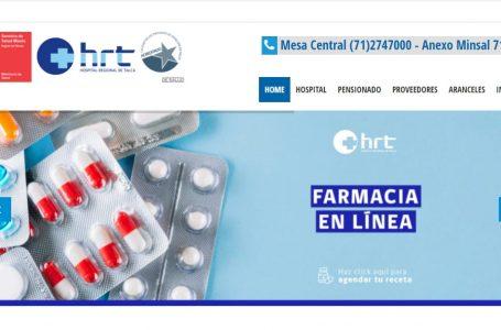 Hospital Regional de Talca recomienda entrar a Farmacia en Línea para programar el retiro de medicamentos