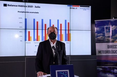 """Ministro Alfredo Moreno por déficit de precipitaciones: """"Este julio ha sido uno de los más secos de la historia"""""""